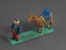 Grulicher Krippenfigur,  Dromedar / Kamel mit Treiber  > 5 cm <   (# 11635)