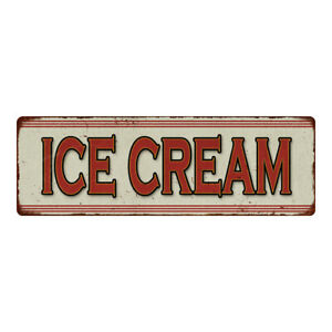 Ice Cream Restaurant Diner Food Vintage Look Metal Sign 106180068017