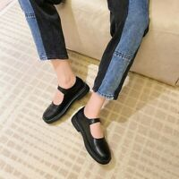 Women Cute Mary Jane Shoes Low Heel Round Toe Pumps Casual Japanese Style Flats