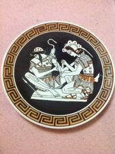 "Vintage 6.5"" Greek Plate ""Achilles Tending Wound"" Handmade High Quality"