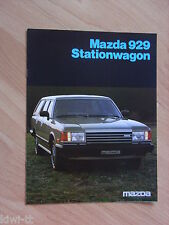 Mazda 929 Stationwagon (929 Kombi) Prospekt / Brochure / Depliant, NL, 5.1982