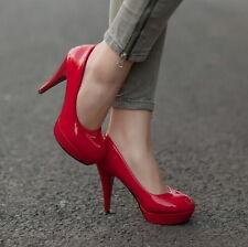 Women New Pumps Platform Stiletto High Heels Party Wedding Shoes Lager Size 5-10