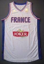 5+/5 SIZE XL NWT Maillot Equipe France Basket Officiel Adidas Blanc Ai6326