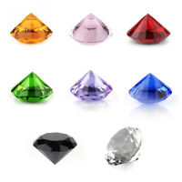 8 Mix Colors Diamond Shape Crystal Glass Paperweights Wedding Favor Decor 30mm