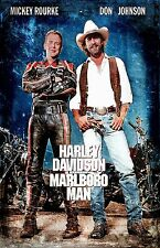 Harley Davidson and the Marlboro Man poster (b) : 11 x 17 inches : Mickey Rourke