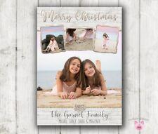 Nautical Christmas Card, Christmas Card, Photo Christmas Cards Wood Ocean Xmas