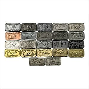 The NEW Full Monty 22 x 1 gram buffalo metal set inc Tantalum, Cobalt, Zirconium