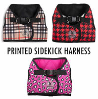The Worthy Dog Printed Sidekick Harness - 9 Sizes Tiny to 3XL Optional Seatbelt