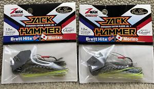 (2) Z-Man 1/2oz JackHammer Evergreen Chatterbaits Bhite Delight 88