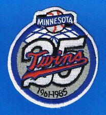 1985 Minnesota Twins 25th Anniversary AUTHENTIC MLB Patch