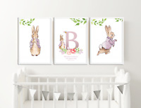 Peter Rabbit Nursery Pictures Personalised Gifts Christening Baby Beatrix Potter