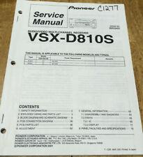 PIONEER VSX-D810S AUDIO/VIDEO STEREO RECEIVER ORIGINAL SERVICE REPAIR MANUAL
