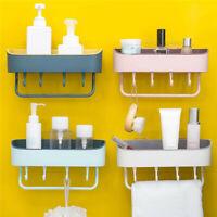 Badezimmer Bad Küchen Aufbewahrung Organizer Duschkorb Badregal mit Saugnapf Fa