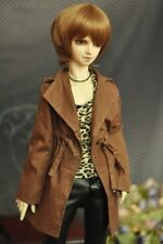 Brown Long Wind Coat Outfits For 1/3 24in 60cm Male BJD SD AOD DD DZ DOLL