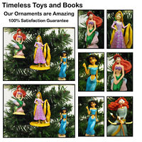 Disney Princess Christmas Ornaments 3 Piece Set Ariel, Rapunzel, and Jasmine