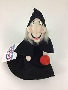 """Disney Store Snow White Wicked Witch Bean Bag Plush Stuffed Poison Apple 8"""" Toy"""