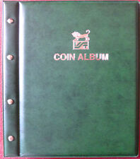 VST COIN ALBUM GREEN COLOUR with 12 Various Size PAGES. Holds 568 Coins