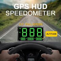 Universal Car GPS Speedometer HUD Head Up Display KM/H MPH Speeding Alarm System