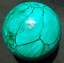 A+ Huge 88mm Natural Green Malachite Crystal Sphere Ball