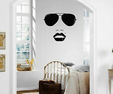 Wall Stickers Vinyl Decal Beautiful Woman Face Fashion Style Glasses ig1624