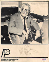 HARRY CARAY Signed Chicago CUBS PHOTO HOLY COW Baseball Pacers PROMO PSA/DNA COA