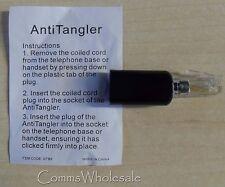Black Telephone Handset Curly Cord Anti-Tangle Device  (Untangler) - NEW