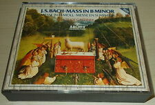 J.S. BACH-MASS IN B MINOR-WEST GERMAN 2xCD 1986-FULL SILVER INNER RINGS-GARDINER