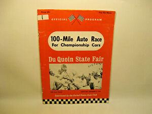 Du Quoin State Fair 100 Mile Champ Car Race Program 1968