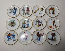 Lot 12 Norman Rockwell Four Seasons Miniature Plates Limited Collectors Edition