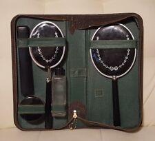 Vintage Travel Set dresser vanity mirror toiletry case