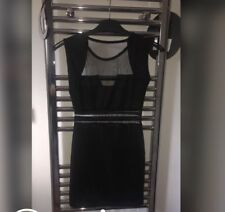 Black Mesh Cut Out Mini Dress Size 6