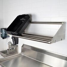 "NEW Regency 42"" Wall Mount Stainless Steel Glass Dish Rack Shelf Commercial"