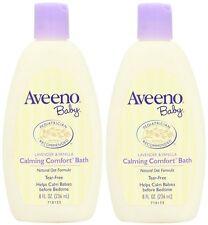 2 Pack Baby Aveeno Calming Comfort Bath Lavender & Vanilla 8 Fl Oz, 236 ml Each