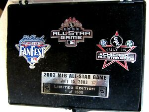 2003 MLB CHICAGO ALL STAR BASEBALL GAME LIMITED EDITION PINS WHITE SOX FAN FEST