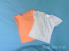 Girls 6 Years - Two T-Shirts - Mauve & Orange