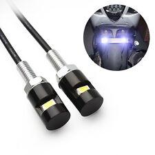 2pcs 12V White LED SMD Motorcycle&Car License Plate Screw Bolt Light lamp bulb