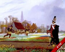 """TULIP MANIA NETHERLAND GUARDS """"LIMIT"""" SUPPLY PAINTING ART REAL CANVAS PRINT"""