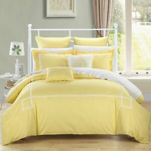 Woodford Yellow 7 Piece Embroidered Comforter Bed In A Bag Set
