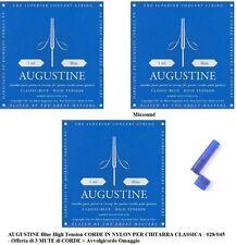 Corde Augustine Blu per Chitarra Classica Hard Tension
