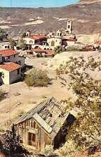 Death Valley California Scottys Castle Birdseye View Vintage Postcard K47690