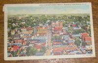 Vintage Linen Postcard - View Of Market Street From Ft. Boreman Parkersburg WV