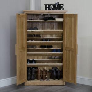 Arden Solid Oak Hallway Modern Furniture Shoe Storage Cupboard Rack