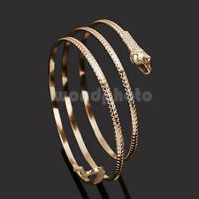 Hot Gold Coiled Snake Spiral Upper Arm Cuff Armband Bangle Bracelet Anklet Punk