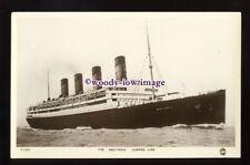 LS1331 - Cunard Liner - Aquitania - postcard