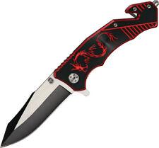 New China Made Folding Pocket Knife Dragon Rescue Linerlock CN300256RD