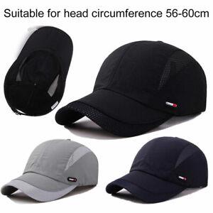 Mens Womens Sport Baseball Mesh Hat Running Visor Breathable Cap Summer Outdoor