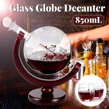 850ml World Globe Decanter Sailboat Vodka Shot Whiskey Wine Drink Glass  @