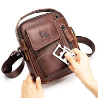 100% Genuine Leather Men's Sling Shoulder Bag Crossbody Bag Small Handbags