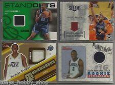 Utah Jazz Game/Event Worn Used Jersey 4 Card Lot Basketball