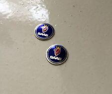 Saab clave 2 X Par Llavero Remoto Emblema pegatina Insignia 93 95 9-3 9-5 12mm
